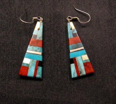 Image 0 of Santo Domingo ~ Kewa ~ Multi-stone Inlay Earrings, James & Doris Coriz