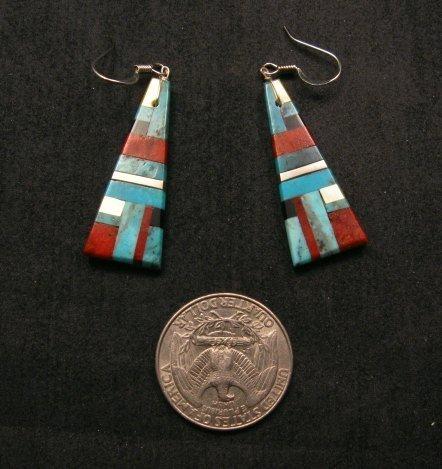 Image 1 of Santo Domingo ~ Kewa ~ Multi-stone Inlay Earrings, James & Doris Coriz