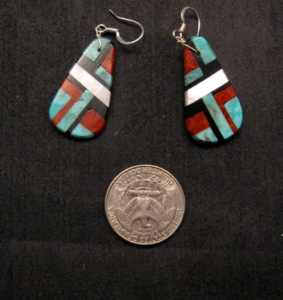 Image 1 of Santo Domingo Multi-stone Inlay Earrings, James Del & Doris Coriz