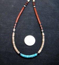 Santo Domingo Multi-stone Heishi 18-inch Necklace, Torevia Crespin
