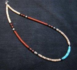 Santo Domingo Multi-stone Heishi 18-inch Necklace, Delbert Crespin