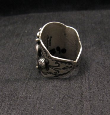 Image 2 of Native American Darryl Becenti Turquoise Silver Ring sz8-1/2