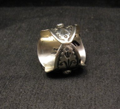 Image 5 of Native American Darryl Becenti Turquoise Silver Ring sz8-1/2
