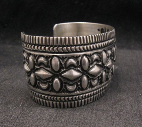Image 2 of Navajo Native American Stamped Sterling Silver Bracelet, Darryl Becenti
