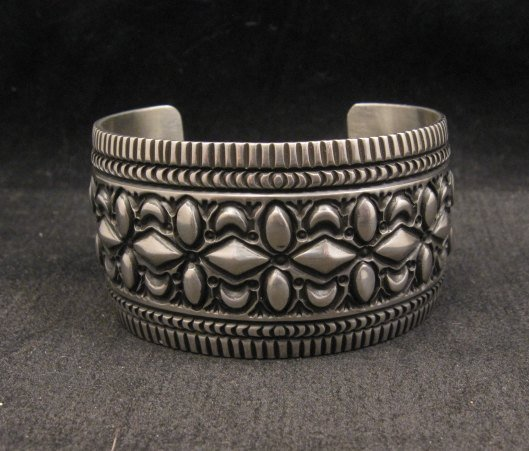 Image 3 of Navajo Native American Stamped Sterling Silver Bracelet, Darryl Becenti