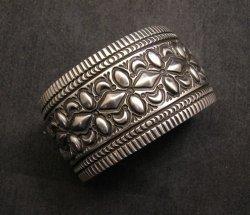 Navajo Native American Stamped Sterling Silver Bracelet, Darryl Becenti