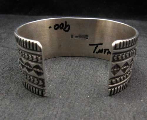 Image 5 of Navajo Native American Turquoise Silver Bracelet, Guy Hoskie
