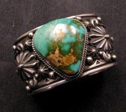 Albert Jake Navajo Royston Turquoise Silver Cuff Bracelet