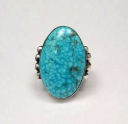 A++ Orville Tsinnie Navajo Native American Kingman Turquoise Silver Ring sz11