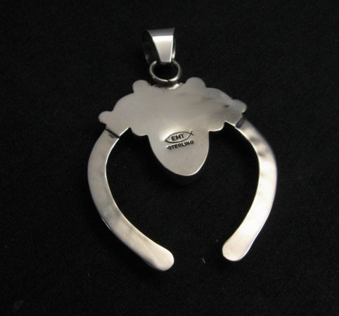 Image 4 of Navajo Naja Pendant Turquoise Silver by Everett & Mary Teller