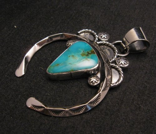 Image 1 of Old Pawn Style Navajo Jewelry Naja Pendant, Everett & Mary Teller