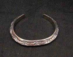 Navajo Native American Sterling Silver Cuff Bracelet, Travis EMT Teller