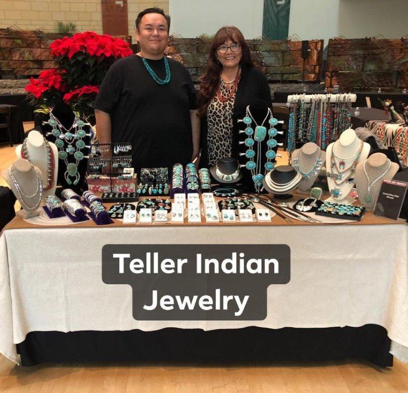 Image 7 of Huge Navajo Royston Turquoise Silver Cluster Pendant, Travis Teller