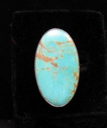 Big Everett & Mary Teller Navajo Native American Kingman Turquoise Ring sz8