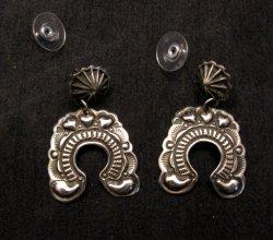 Native American Darryl Becenti Navajo Naja Sterling Silver Earrings