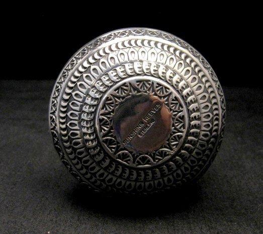 Image 4 of Daniel Sunshine Reeves Navajo Native American Silver Wedding Vase
