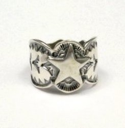 Sunshine Reeves ~ Navajo ~ Stamped Sterling Silver Star Ring sz10