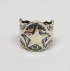Sunshine Reeves Navajo Native American Sterling Silver Star Ring sz7