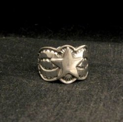 Sunshine Reeves ~ Navajo ~ Stamped Sterling Silver Star Ring sz9