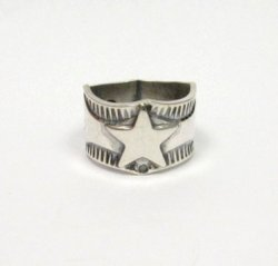 Sunshine Reeves Navajo Native American Sterling Silver Star Ring sz8-1/2