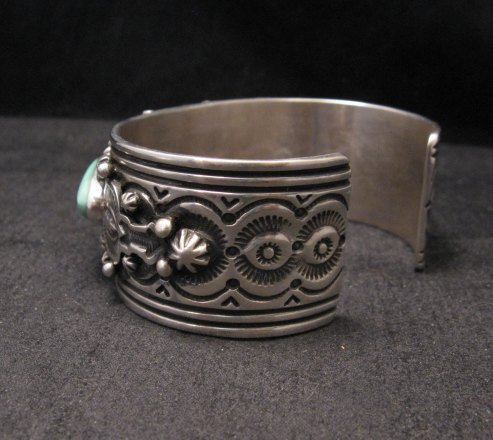Image 3 of Native American Navajo Royston Turquoise Sterling Silver Bracelet Happy Piasso