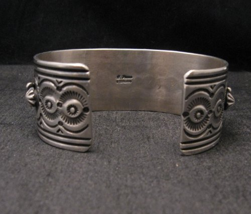 Image 5 of Native American Navajo Royston Turquoise Sterling Silver Bracelet Happy Piasso