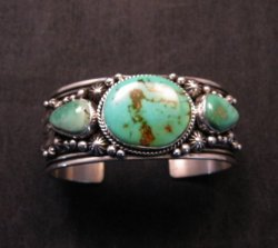 Native American Navajo Royston Turquoise Sterling Silver Bracelet Happy Piasso