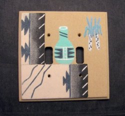 Navajo Sandpainted Double Toggle Switchplate Cover Plate Native American