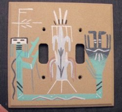 Navajo Sandpainted Double Toggle Switchplate Cover Plate
