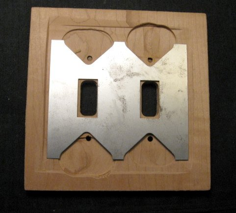 Image 1 of Native American Navajo Sandpainted Double Toggle Switchplate Cover Plate