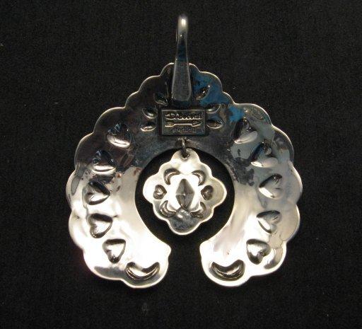 Image 3 of Large Navajo Native American Silver Naja Pendant, Darryl Becenti