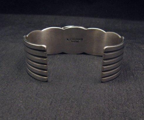 Image 8 of Andy Cadman Navajo Native American Kingman Web Turquoise Thunderbird Bracelet