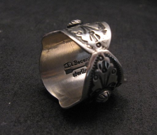 Image 3 of Native American Navajo Darryl Becenti Turquoise Silver Ring sz8-1/2