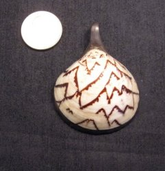 Vintage Native American Shell Sterling Silver Pendant
