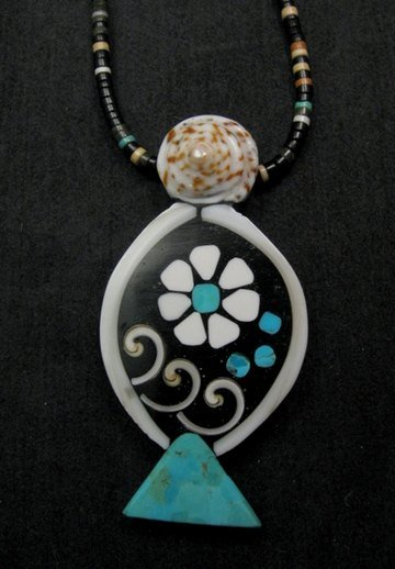 Image 0 of Unique Santo Domingo Kewa Mosaic Inlay Necklace, Mary Tafoya