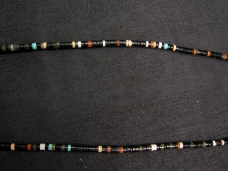 Image 4 of Unique Santo Domingo Kewa Mosaic Inlay Necklace, Mary Tafoya