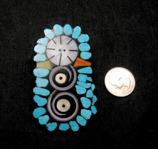 Image 0 of Contemporary Santo Domingo Kewa Mosaic Inlay Pin/Pendant, Mary Tafoya