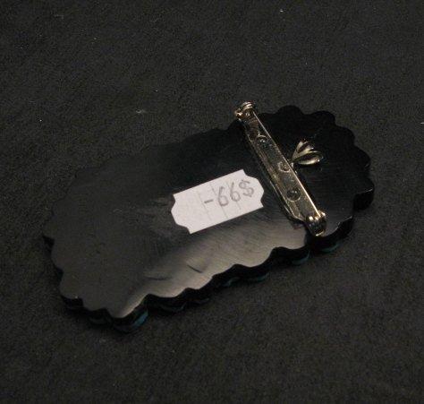 Image 1 of Contemporary Santo Domingo Kewa Mosaic Inlay Pin/Pendant, Mary Tafoya