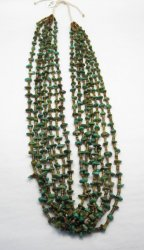 Dead Pawn Native American 7-strand Turquoise Nugget Necklace