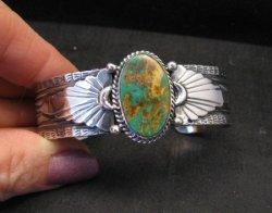 Navajo ~ Gilbert Tom ~ Native American Royston Turquoise Silver Bracelet