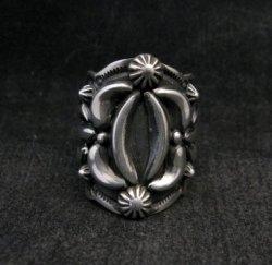 Darryl Becenti Navajo Native American Sterling Silver Ring sz7-1/2