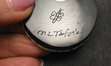 Image 2 of Mary Tafoya Santo Domingo Mosaic Inlay Turquoise Heishi Necklace