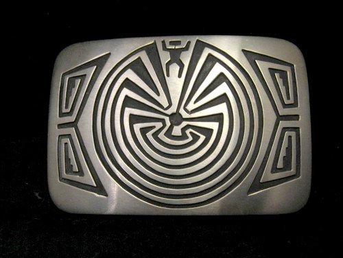 Image 0 of Navajo Sterling Silver Man in the Maze Belt Buckle, Stanley Gene