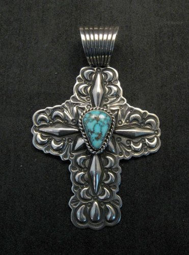 Image 0 of Native American Turquoise Cross Pendant, Darryl Becenti