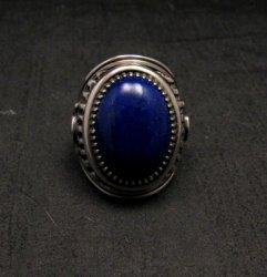 Native American Navajo Lapis Lazuli Sterling Ring Sz9, Derrick Gordon