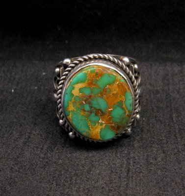 Image 0 of Big Albert Jake Navajo Native American Royston Turquoise Ring Sz13