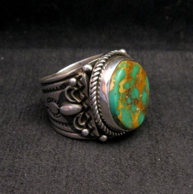 Image 2 of Big Albert Jake Navajo Native American Royston Turquoise Ring Sz13