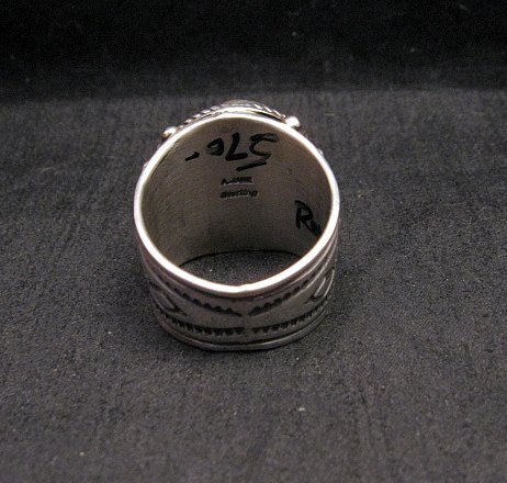 Image 3 of Big Albert Jake Navajo Native American Royston Turquoise Ring Sz13