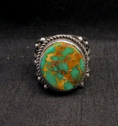 Big Albert Jake Navajo Native American Royston Turquoise Ring Sz13
