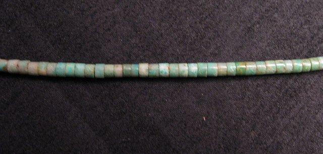 Image 2 of Mary Tafoya Santo Domingo Multi-Stone Inlay Turquoise Heishi Necklace